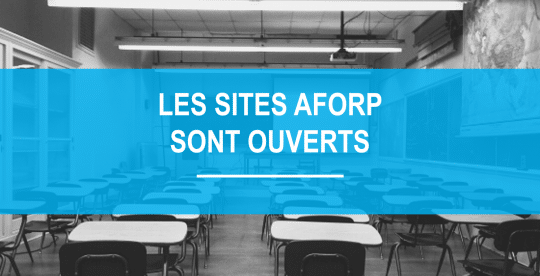 Réouverture de nos sites